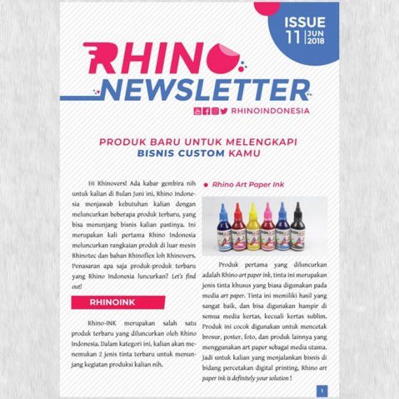 Rhino Newsletter Juni 2018 Edisi Produk Baru Untuk Melengkapi Bisnis Custom Kamu