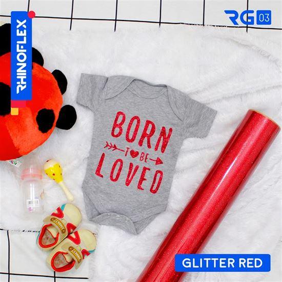 Polyflex Glitter RG-03 GLITTER RED