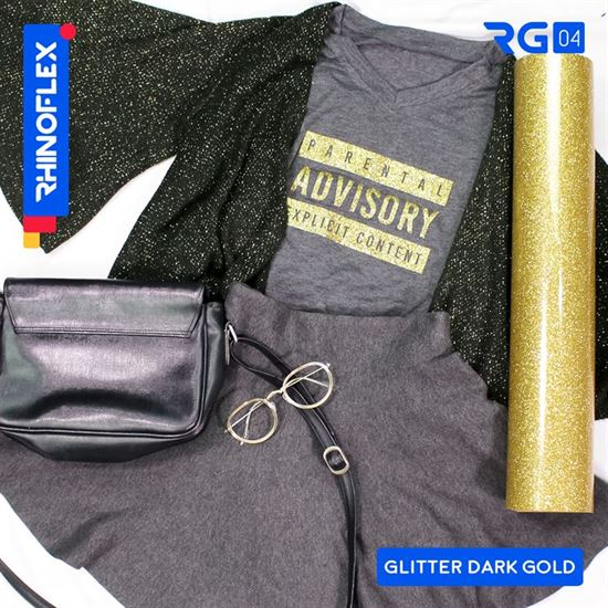 Polyflex Glitter RG-04 DARK GOLD