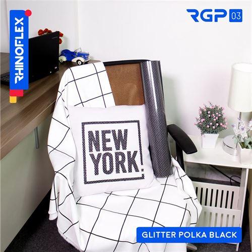RGP-03 GLITTER POLKA BLACK