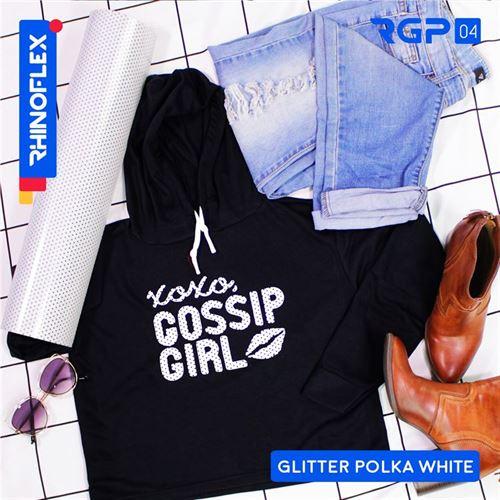 RGP-04 GLITTER POLKA WHITE