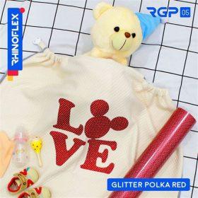 RGP-05 GLITTER POLKA RED