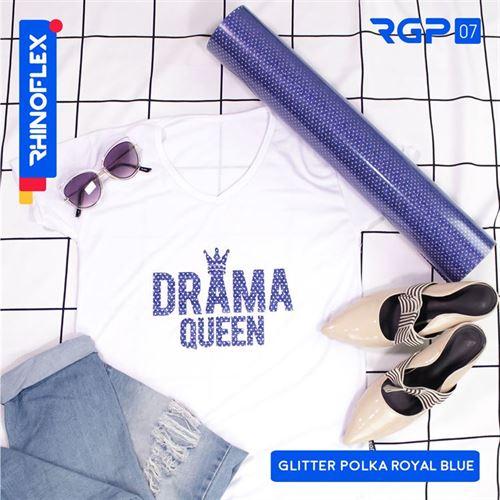 RGP-07 GLITTER POLKA ROYAL BLUE