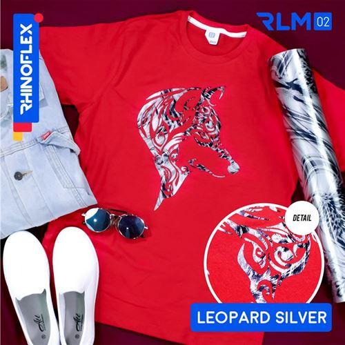 Rhinoflex Foil Motif RLM-02 LEOPARD SILVGER